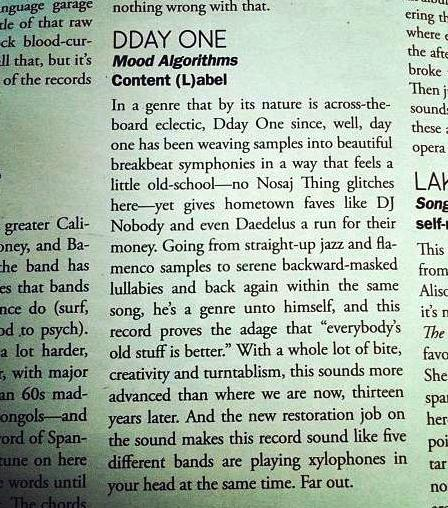 dday one L.A Record Review